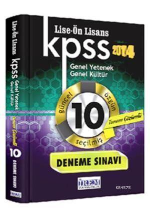 Kpss Lise Önlisans Çözümlü 10 Fasikül Deneme Sınavı 2014