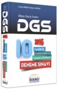 2016 İrem DGS Tamamı Çözümlü 10 Deneme