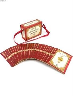 Kur'ân-I Kerîm Hatim Seti (Çanta Boy-Bilgisayar Hatlı-2 Renk-Karton Kapak) (Kod 1583)