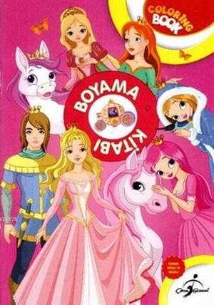 Boyama Kitabı Pembe Prensesler - Aktiviteli Boyama Serisi