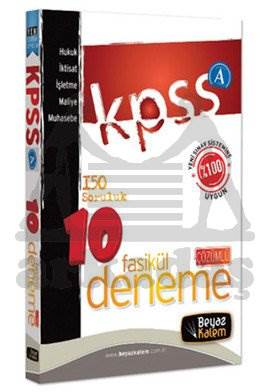 Beyaz Kalem KPSS - A 10 Fasikül Deneme Sınavı ve Çözümleri 2014