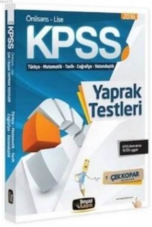 KPSS Ön Lisans Lise Çek Kopar Yaprak Test 2016