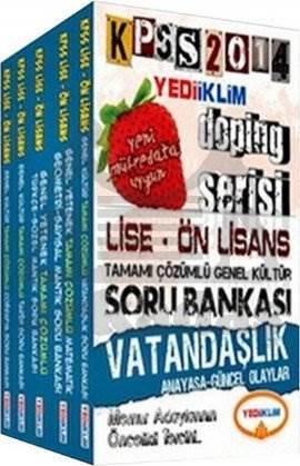 Yediiklim KPSS Genel Yetenek Genel Kültür Tamamı Çözümlü Soru Bankası Modüler Set Lise-Önlisan 2014