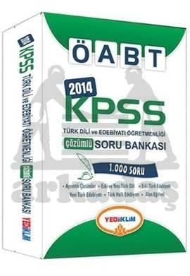 Yediiklim KPSS ÖABT Türk Dili ve Edebiyatı Öğretmenliği Çözümlü Soru Bankası