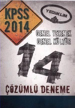 KPSS Genel Yetenek Genel Kültür 14 Çözümlü Deneme 2014