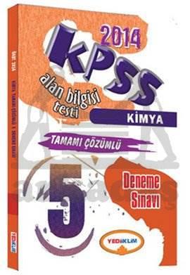Yediiklim KPSS ÖABT Kimya Tamamı Çözümlü 5 Deneme Sınavı 2014