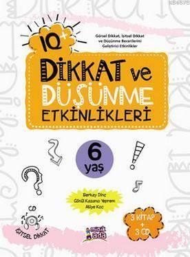 IQ+ Dikkat Ve Düşünme Etkinlikleri 6 Yaş; 3 Kitap + 3 Cd