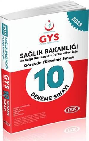GYS Sağlık Bakanlığı 10 Deneme Sınavı 2015; Görevde Yükselme Sınavı