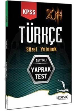 2014 KPSS Türkçe Yaprak Test - Sözel Yetenek