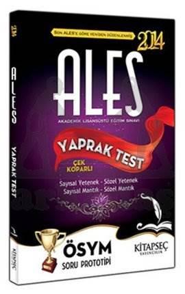 2014 ALES Yaprak Test - Çek Koparlı