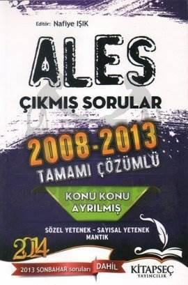 2014 ALES Konu Konu Ayrılmış 2008 - 2013 Çıkmış Sorular Tamamı Çözümlü