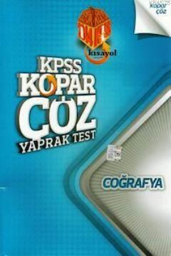 KPSS Coğrafya Kopar Çöz Yaprak Test