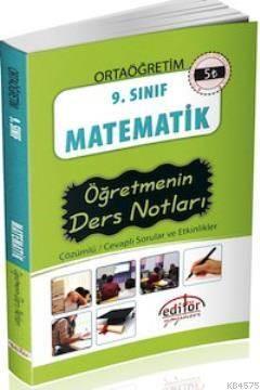 9. Sınıf Matematik Öğretmenin Ders Notları