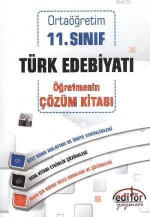 Ortaöğretim 11. Sınıf Türk Edebiyatı Öğretmenim Çözüm Kitabı