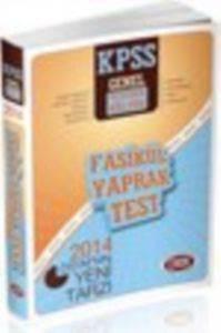 Data Kpss Genel Kültür Genel yetenek Fasikül Deneme Sınavı 2014
