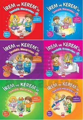 İrem ve Kerem'in Temizlik Maceraları Seti (6 Kitap Takım)