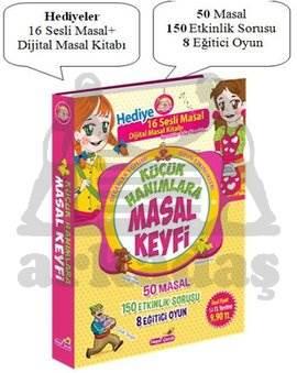 Küçük Hanımlara Masal Keyfi-50 Masal- 150 Etkinlik- 8 Eğitici Oyun