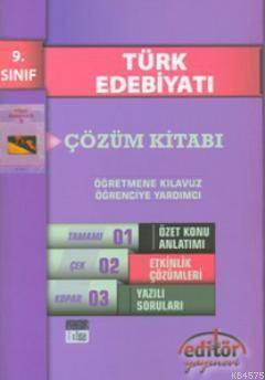 Türk Edebiyatı Çözüm Kitabı 9. Sınıf