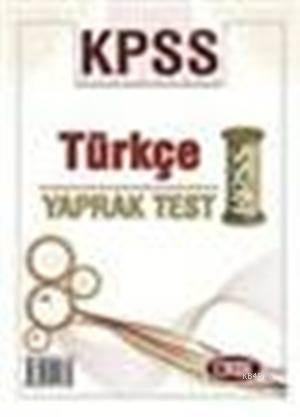 KPSS Türkçe Yaprak Test 2013