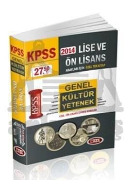 2014 KPSS Lise ve Önlisans Genel Yetenek Genel Kültür Tek Kitap