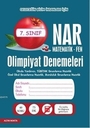 Nar Olimpiyat Denemeleri 7. Sınıf; Matematik - Fen