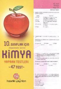 Hazırlık 10. Sınıf Kimya Yaprak Testleri
