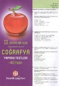 Hazırlık 11. Sınıf Coğrafya Yaprak Testleri
