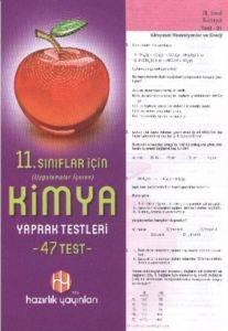 Hazırlık 11. Sınıf Kimya Yaprak Testleri