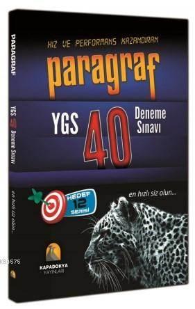 YGS Paragraf 40 Deneme Sınavı 2015