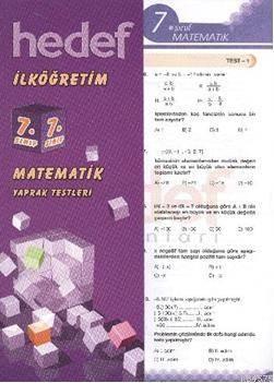 7 Matematik Yaprak Test