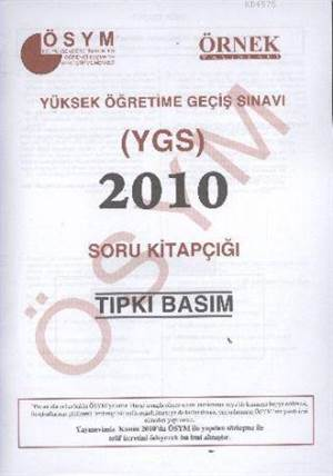 YGS 2010 Soru Kitapçığı