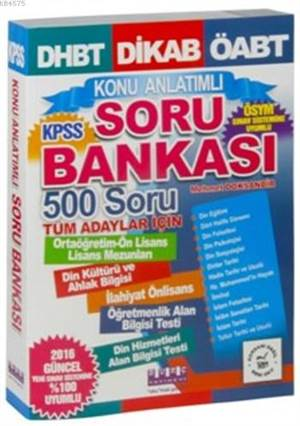 Dhbt, Dikab, Öabt, Kpss Konu Anlatımlı Soru Bankası; 500 Soru