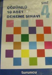 4.Sınıf Turuncu Çözümlü Deneme Sınavı Seti