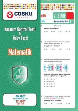 Coşku 7.Sınıf K.K.Testi & Ödev Testi Matematik