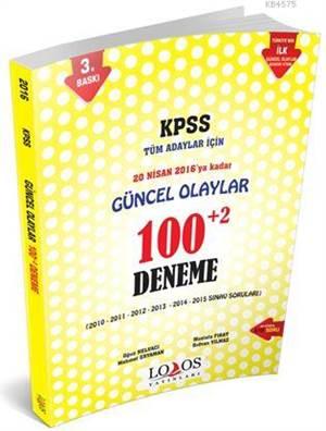 2016-Kpss Güncel Olaylar 100+2 Deneme Kitabı (Büyük Boy)