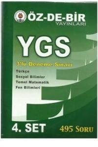 Özdebir Ygs 3 Lü Deneme Sınavı 4 Set