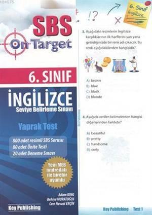 SBS 6. Sınıf İngilizce Yaprak Test
