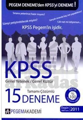 KPSS Genel Yetenek Genel Kültür Tamamı Çözümlü 15 Fasikül Deneme
