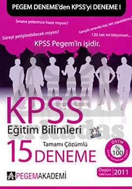 KPSS Eğitim Bilimleri 15 Deneme Sınavı