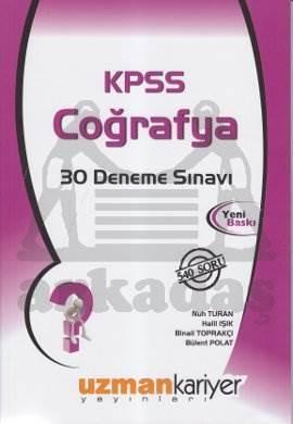 KPSS Coğrafya 30 Deneme Sınavı