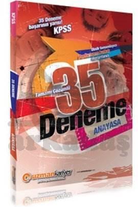 2014 KPSS Anayasa 35 Deneme Sınavı (Tamamı Çözümlü)