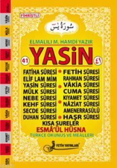 Yasin Türkçe Okunuşlu Mealli (Orta Boy-Kod:F016)
