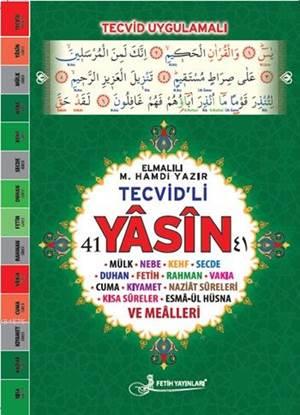 Tevcid'li 41 Yâsîn Kod: F040 (Rahle Boy, Lüks Kapak, Fihristli, Şamua, Dört Renk); Sûreler Ve Meâlleri