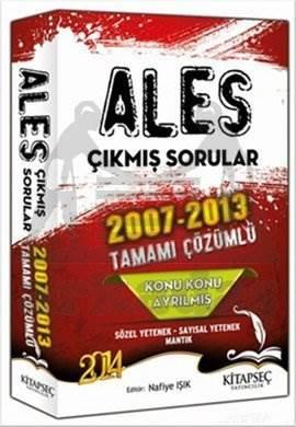 Kitapseç 2014 ALES Konu Konu Ayrılmış 2007- 2013 Tamamı Çözümlü Çıkmış Sorular