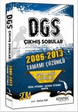 Kitapseç 2014 DGS Konu Konu Ayrılmış 2006-2013 Tamamı Çözümlü Çıkmış Sorular