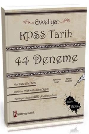 KPSS Tarih 44 Deneme Sınavı 2014