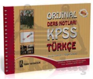 İsem Yayıncılık Orijinal KPSS Türkçe Ders Notları 2014