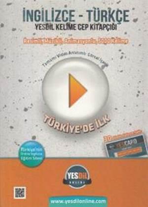 İngilizce Türkçe Yesdil Kelime Cep Kitapçığı; 30 Gün Online Eğitim Paketi Hediyesiyle