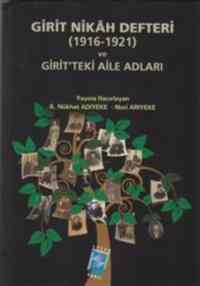 Girit Nikah Defteri Ve Girit'teki Aile Adları (1916-1921)