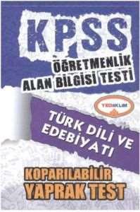 Yediiklim KPSS ÖABT Türk Dili ve Edebiyatı Koparılabilir Yaprak Test